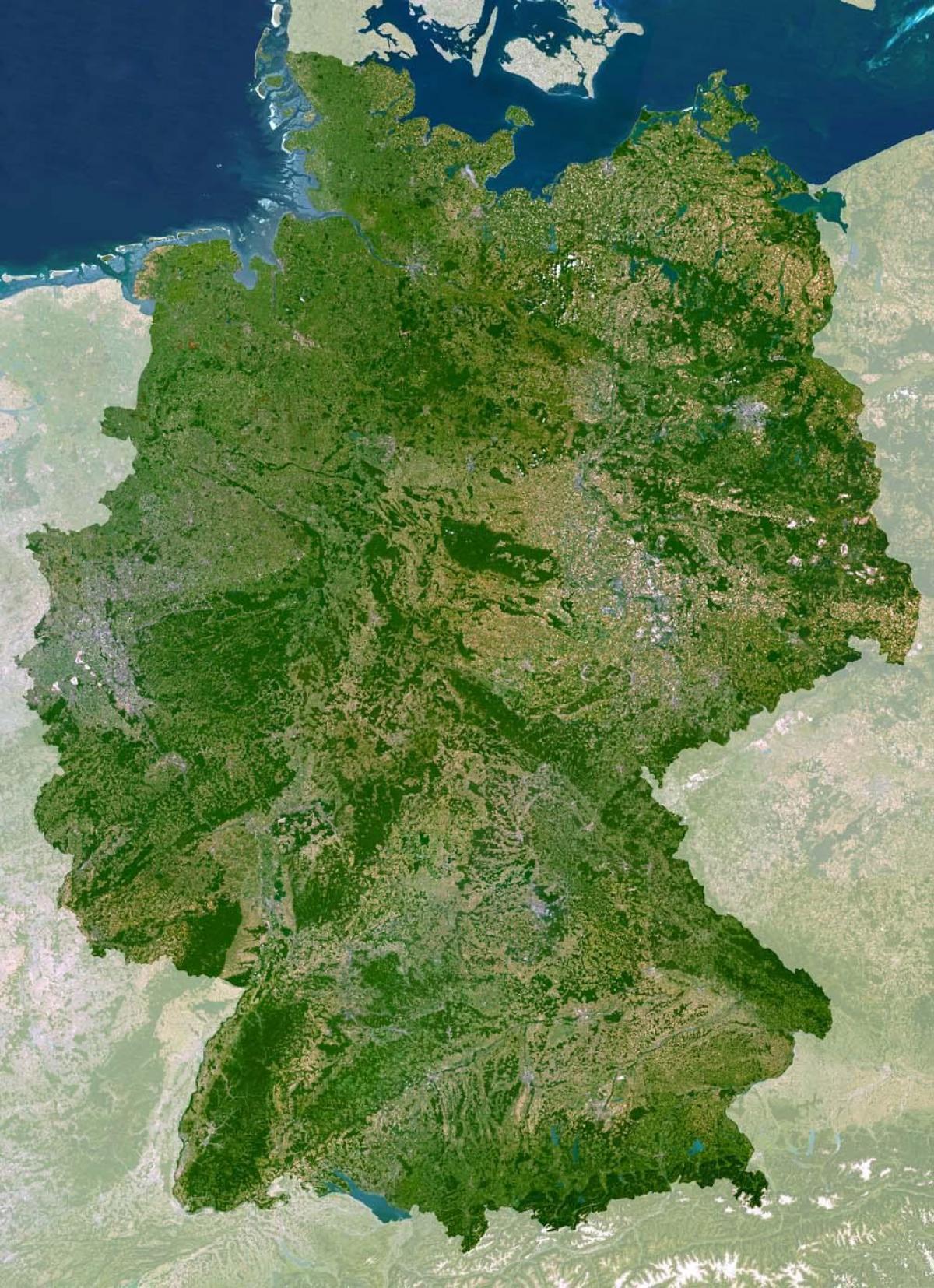 Harta Harta Germaniei Satelit